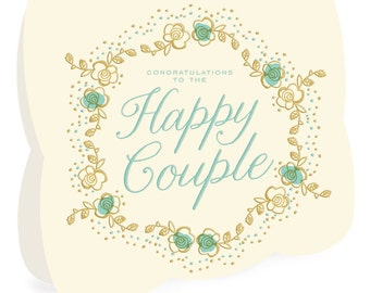 Fairy Tale Letterpress Wedding Congratulations Card • LP729