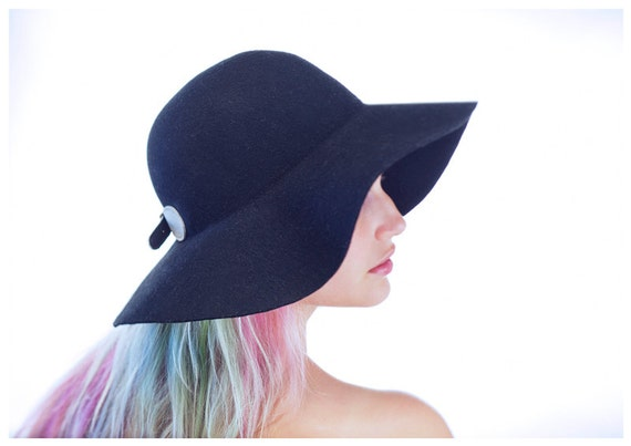 wide brim felt hat womens felt hat floppy felt hat