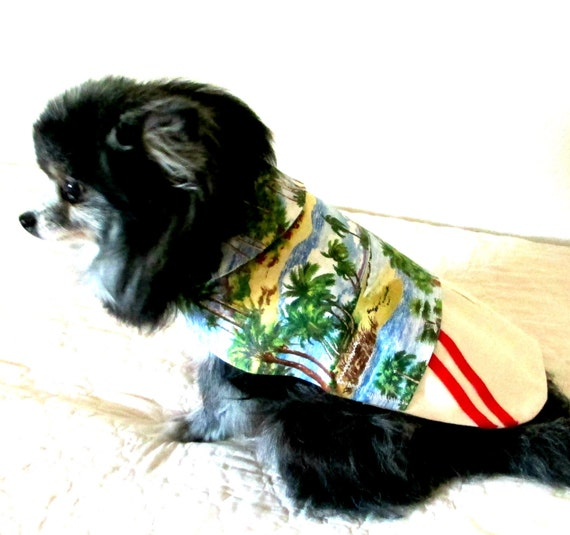 Small Dog Clothes, Hawaiian Dog Clothes, Toy Teacup Sizes, Made to Order, Pet Clothes, Shih Tzu Yorkie