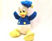 Vintage Disneys Donald Duck Plush Rubber Face