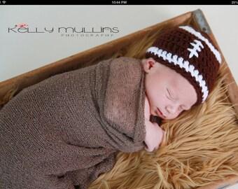 Football hat for newborn baby photo prop