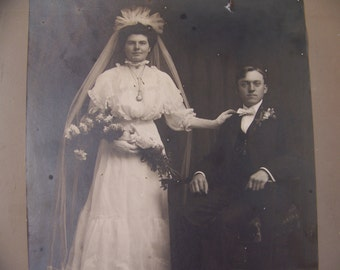 Large Antique Wedding Photo/Picture Bride and Groom. Vintage Wedding Decoration. Antique Wedding Decor. Vintage Wedding. Shabby Chic Wedding