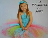 Rainbow Tutu Dress, Turquoise Tutu Dress, Toddler Birthday Dress