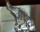 Mid century modern Lucky CHRYSTAL elephant figurine EXCELLENT CONDITION!