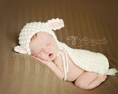 CROCHET PATTERN: Little lamb bonnet & cape - permission to sell finished items - digital download