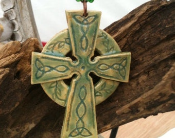 Celtic cross in teal