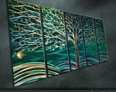 """Original Metal Wall Art Modern Abstract Painting Sculpture Indoor Outdoor Decor """"Rich tree"""" by Ning"""