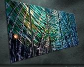 "Original Metal Wall Art Painting Sculpture Indoor Outdoor Decor "" In the wenter of  birches "" by Ning"