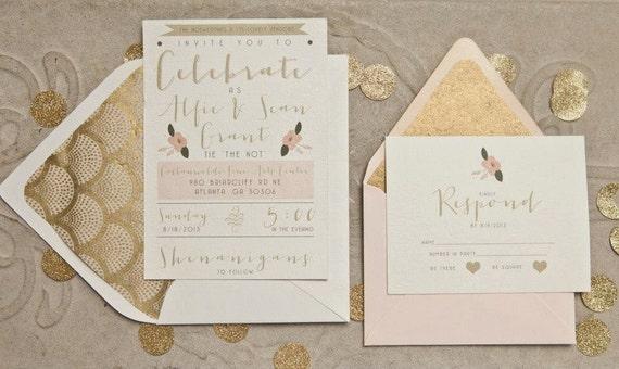 Great Gatsby Wedding Invitation: Gatsby Wedding Invitations