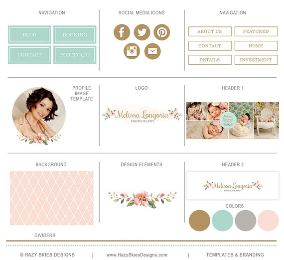 items similar to blog kit for photographers blog set for With pro photo blog templates