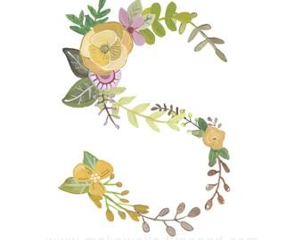 S - Floral Print