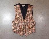 vintage 1990s rabbit tapestry vest. kitch bunny vest. 90s retro animal clothing.