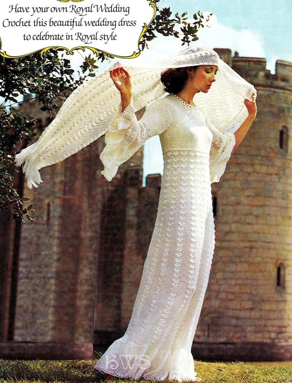 Crochet Wedding Dress Pattern Crochet Wedding Gown Dress