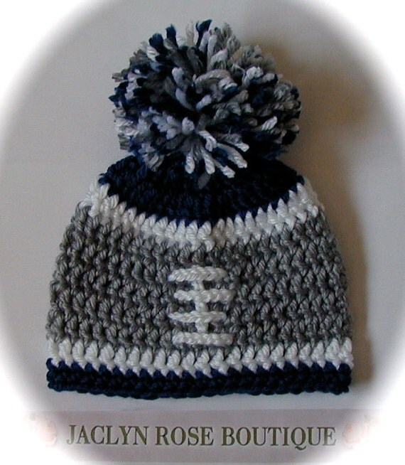 Crochet baby hat NFL college football hat Dallas Cowboys