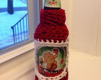 Red and White Beer Bottle Sweater