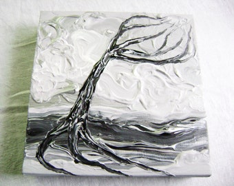 Arctic Wind - Original Acrylic Painting - Stretched Gallery Canvas - 8 x 8