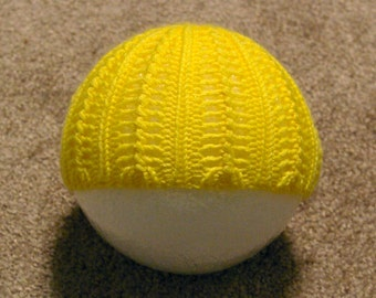 Yellow lace newborn hat