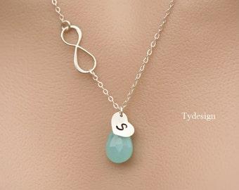 Infinity heart necklace,Figure eight,Personalized infinity necklace,bridesmaid gifts,sisterhood,wedding