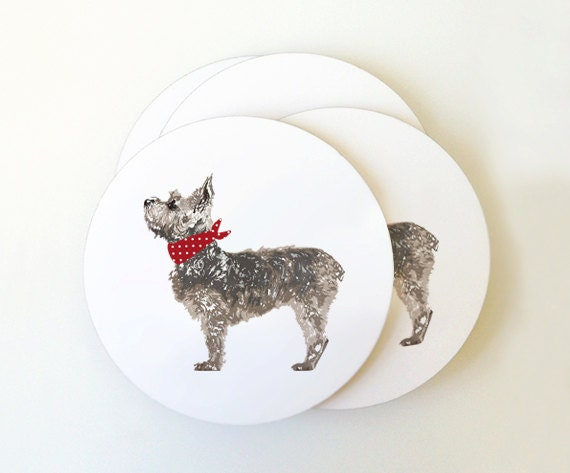 Small Terrier Coaster Set