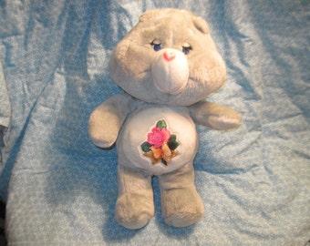Care Bears, Vintage Care Bear, Teddy Bear, Vintage Teddy Bear, Vintage 1983 Kenner Care Bears Stuffed Plush Grams Grandma Bear Gray, Toys :)
