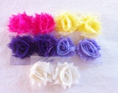Shabby Flowers...Headband Supplies..1 inch flowers....Bulk..Wholesale