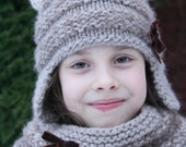 Mia Hat & Cowl Set - Knitting pattern -Toddler, Child and Teen sizes - eBook/pdf pattern