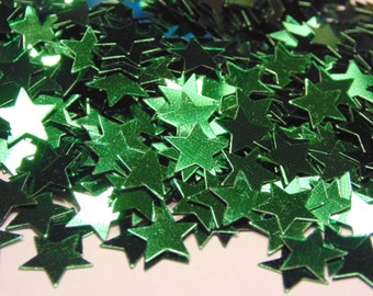 bag of green star confetti (2)