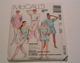 Vintage McCalls Pattern 3531 Miss Top Pants and Shorts