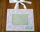 5x7 hanging girl's custom stenciled picture frame