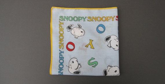 Vintage Snoopy Scarf/Handkerchief 1950s