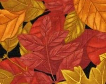 Timeless Treasures fabric AUTUMN LEAVES