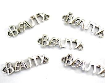 6pc Beauty Connector Charms / Bracelet Connectors/ Silver/8x29mm