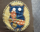 Brown Tee with Owl Applique, size Medium