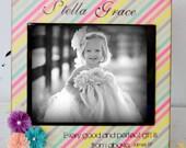 Featuring a 8x10 distressed vintage photo frame Children Girl Boy Nursery Keepsake BIrthday Dedicating Rainbow Flowers