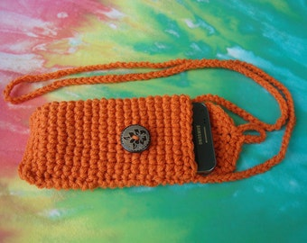 Cell Phone Cozy - Cover - Case - Bag Crochet Handmade -  Coachella Festival must have