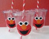Set of 25 -  Elmo Party Cups, Elmo, Elmo Birthday Party, Sesame Street, Elmo Decor, Cookie Monster Party, Elmo Cups
