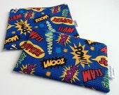Superhero Print Eco-Friendly Reusable Snack & Sandwich Bag