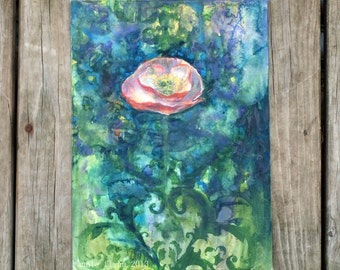 "Archival Print of Original Mixed Media ""Sweet Poppy"""
