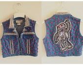 KillaBot Custom Denim Vest Women's Small by Moon Shine Apparel