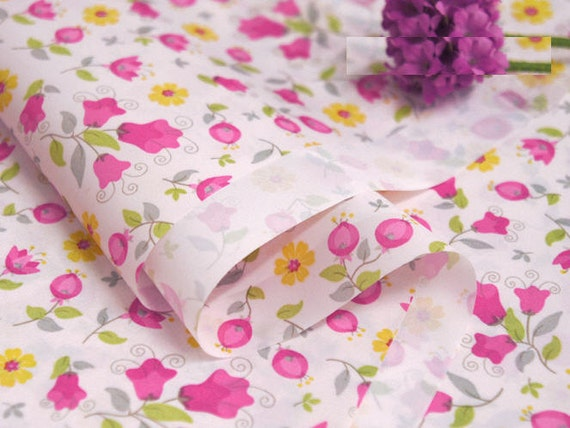 waterproof fabric pink flowers by the yard 44352 gj by landofoh. Black Bedroom Furniture Sets. Home Design Ideas