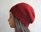 Crochet pattern, crochet slouchy beanie, Slouchy beanie with shell trim, adult size, Pattern No. 62