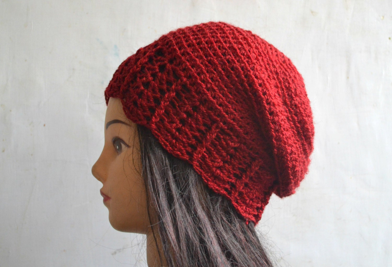 Crochet pattern crochet slouchy beanie by TheLazyHobbyhopper