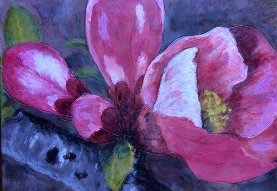 www.etsy.com/listing/183402547/flowering-quince-12x9-original-encaustic