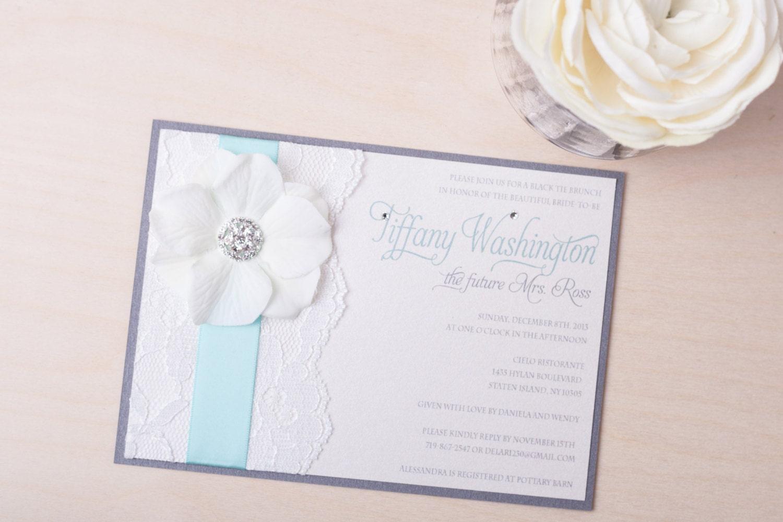 Wedding Invitations Turquoise: ANDREA: Turquoise Lace Wedding Invitation Summer Wedding