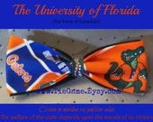BowTie Made From Florida Gators Fabric - Great Looking Bow Tie for a GREAT Team - The Florida Gators - And U.S.SHIPPlNG NEVER M0RE THAN 1.99