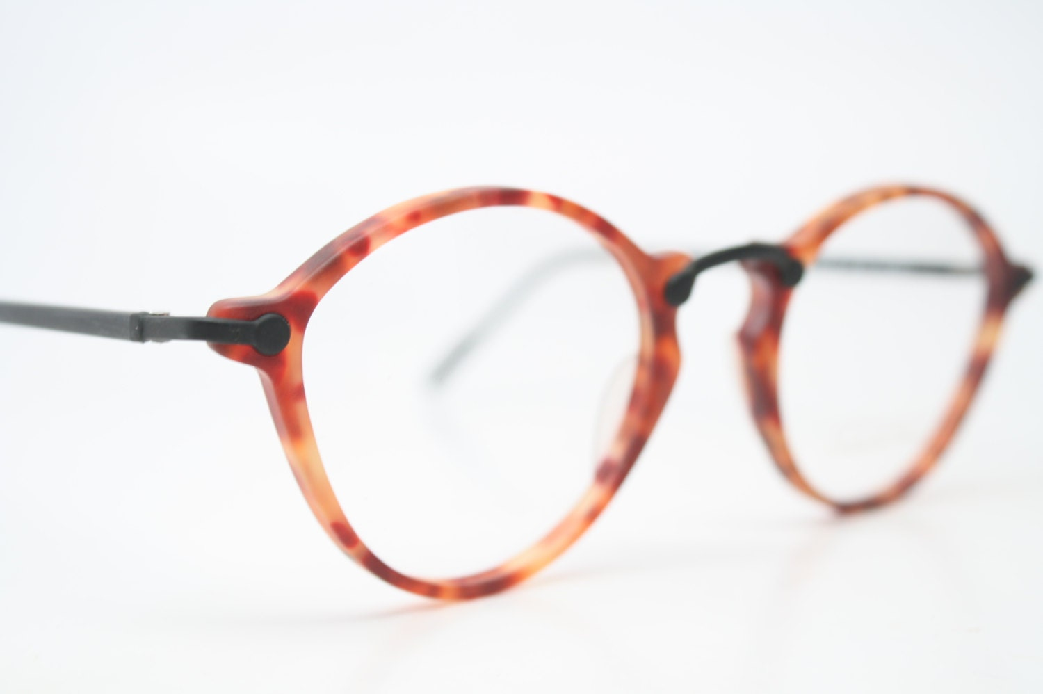 Unique Vintage Demi Amber Eyeglasses Retro by PinceNezShop ...
