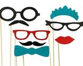 8 Photo Booth Props // Photobooth prop // Mustache Moustache Party // Little Man // Gender Reveal // Bash // Weddings
