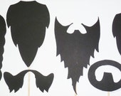 6 Beard Me. Party Props. Wedding. Photo Booth Props. Wedding Photo Props. Photo Props. Props on a Stick - The Beard Pack