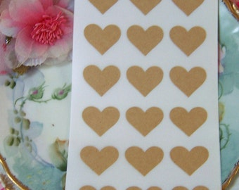 Rustic Chic Set of 72 Heart-Shaped Labels