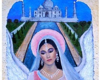 Amishi, Earth Angel From India, An Original Fine Art 8 by 10 Print by Charlotte Phillips